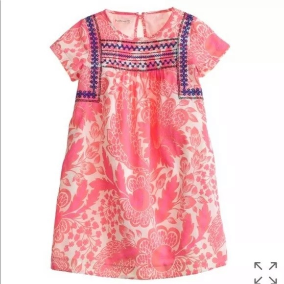 Crewcuts Other - J.CREW CREWCUTS Pink Floral Embroidered Dress 8